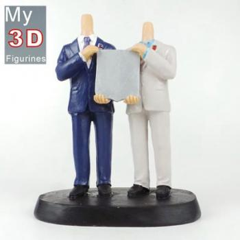 3d personalized bobbleheads Gay wedding SR134