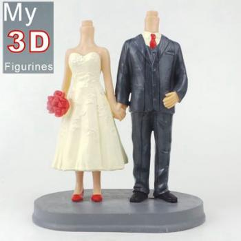 3d personalized bobbleheads wedding SR160