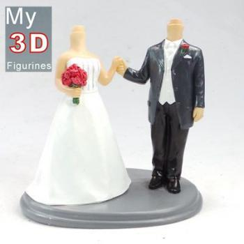3d personalized bobbleheads wedding SR107