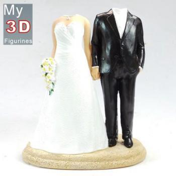 3d personalized bobbleheads wedding SR102