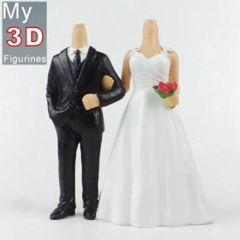 3d personalized bobbleheads wedding SR181