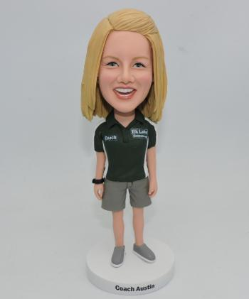 Custom bobblehead female coach