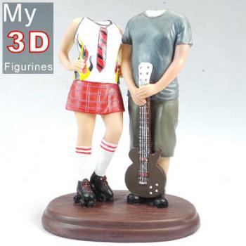 3d personalized bobbleheads couple with guitar SR078