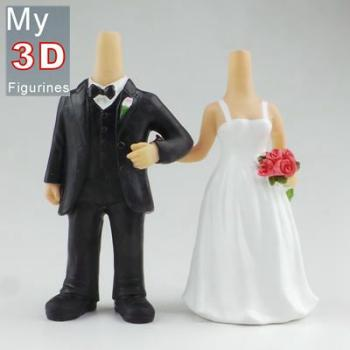 3d personalized bobbleheads wedding SR242