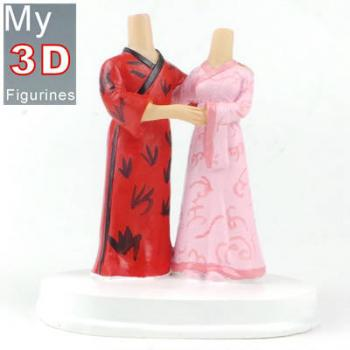 3d personalized bobbleheads Chinese Tang suit couple SR204