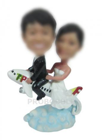 Airplane Wedding Cake Toppers