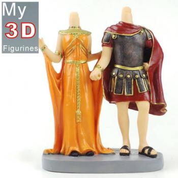3d personalized bobbleheads gladiators and princess couple SR228