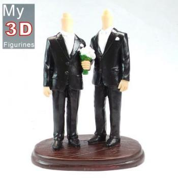 3d personalized bobbleheads Gay wedding SR099