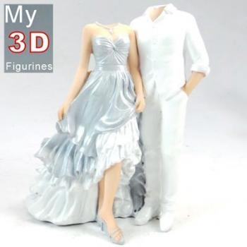 3d personalized bobbleheads wedding SR095