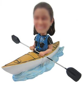 Female Kayaking Bobbleheads - Kayak
