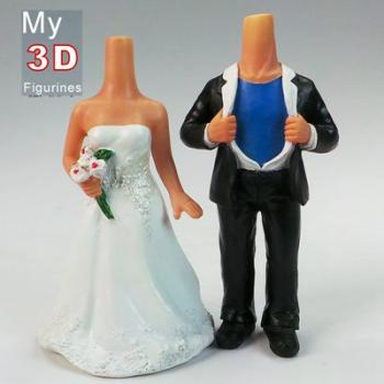 3d personalized bobbleheads superman wedding SR007
