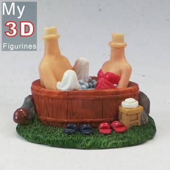 3d personalized bobbleheads bath together couple SR051