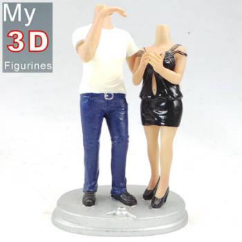 3d personalized bobbleheads couple SR063