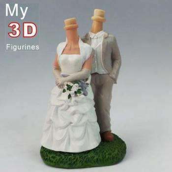 3d personalized bobbleheads country wedding SR013