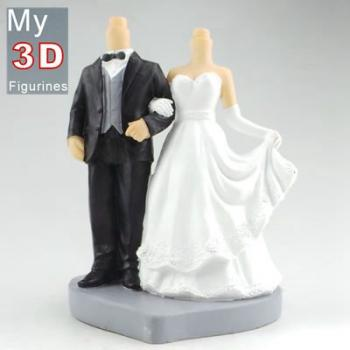 3d personalized bobbleheads wedding SR267