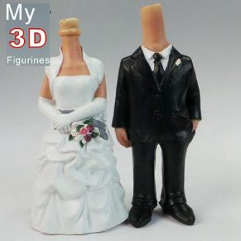 3d personalized bobbleheads wedding SR010