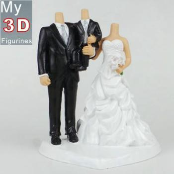 3d personalized bobbleheads wedding with son SR113