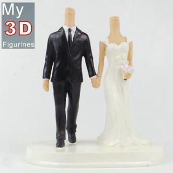 3d personalized bobbleheads wedding SR211