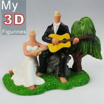 3d personalized bobbleheads wedding SR019