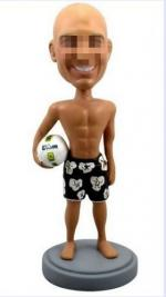 Custom male volleyball bobbleheads