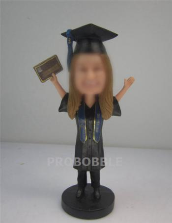 High School or College Graduation Bobbleheads