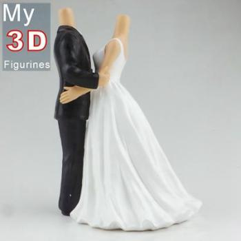 3d personalized bobbleheads wedding SR246