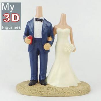 3d personalized bobbleheads wedding SR156