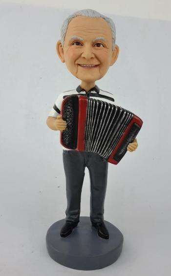 Accordion player bobbleheads doll