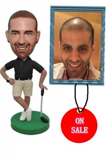 Custom golf player bobbleheads gift for boss