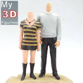 3d personalized bobbleheads couple SR072