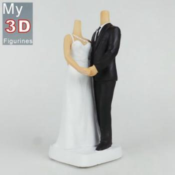 3d personalized bobbleheads wedding SR121