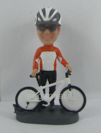 Custom Male Cyclists Bobblehead