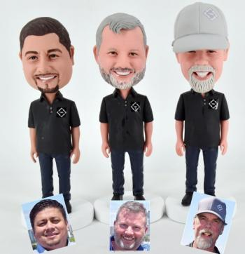 Custom bobblehead for staff/workers (price listed for one doll)