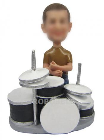 Custom Bobbleheads Rock Band Drummer