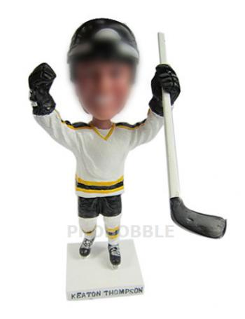 Hockey Playing Personalized Bobblehead