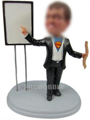 Custom Bobblehead Superman Professor