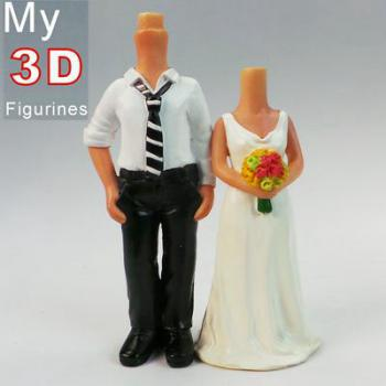 3d personalized bobbleheads wedding SR009