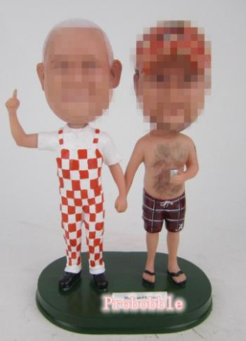 Casual gay same sex bobbleheads