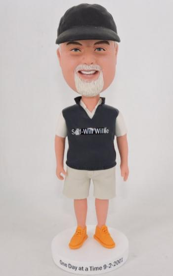Custom bobbelhead dad in jacket