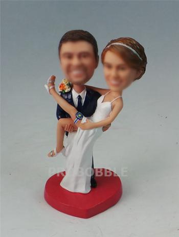 Custom Carrying Bride Wedding Cake Toppers