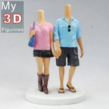 3d personalized bobbleheads hand in hand couple SR046