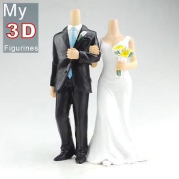 3d personalized bobbleheads wedding SR270
