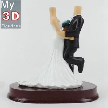3d personalized bobbleheads wedding SR191