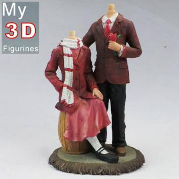 3d personalized bobbleheads couple SR050