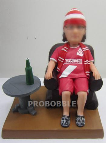 Sports Woman with Beer bobbleheads