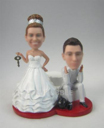 Lock and Key Cake Toppers Bobblehead