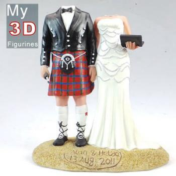personalized bobbleheads Scottish wedding SR086