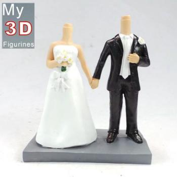 3d personalized bobbleheads wedding SR108