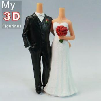 3d personalized bobbleheads wedding SR022