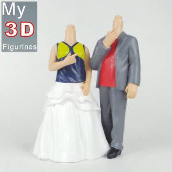 3d personalized bobbleheads couple SR148